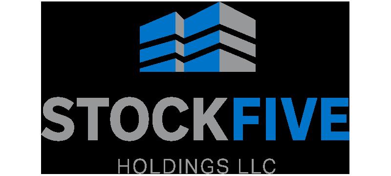 StockFive Holdings LLC full color logo for dark backgrounds
